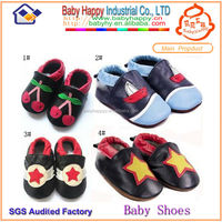 Top selling soft sole baby leather shoes with rocket