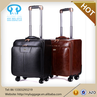 Hot sale custom Vintage suitcase pu luggage for bussiness