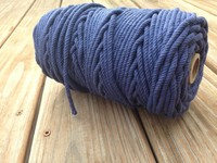 wedding Cotton Rope Cord - Navy Blue for ship boat professional manufacturer of mooring rope