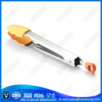 Stainless Steel Silicone Serving Tongs/Silicone Food Tongs