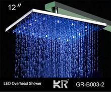 """Risparmio di acqua ha portato la testa soffione bagno piovosità 16"""" di colore cambiando la temperatura sensore"""