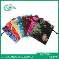 Brocade Drawstring Bags Jewellry pouches 9*12cm Stock Mix Colour