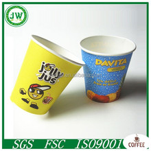 logo printed disposable paper coffee cups wholesale