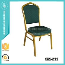 Banquet chairs with metal leg and sponge seat
