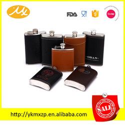 hot sale hot new products for 2015 new style colorful leather wrapped hip flask