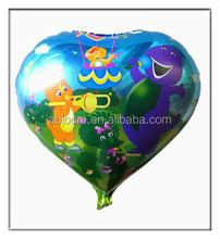 Barney cartoons image heart shape foil balloon