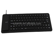 PC Computer Laptop Silicone Keyboard Foldable Water-Proof USB