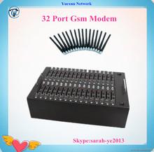 32 port 2g /3g usb gsm voice modem gsm modem at command usb for bulk sms sending