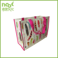 Laminated recycled high quality Custom pp woven tote shopping bag