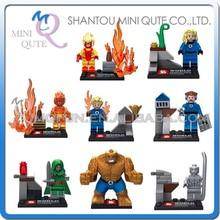 Mini Qute Senye 8pcs/set Marvel Avenger super hero Fantastic Four building block action figures educational toy NO.SY 167