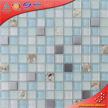 KS016 23 * 23 vidrio de diseño fresco azul océano tendencia mezcla decoración baños seashell