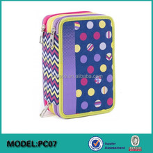 Custom made cool zipper triple pencil case for teenagers