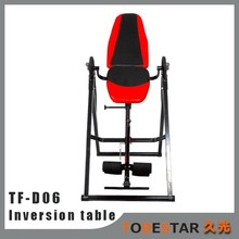 Red Fast Folding Inversion Table for Home Gym Use