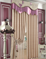 New arrival black out curtains double side jacquard curtains fabric