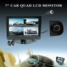 "china factory free sample 7"" LCD monitor bus security system"