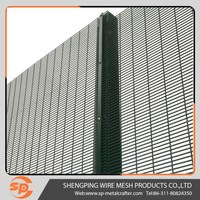Galvanized steel 358 mesh security fence panels