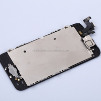 LCD Display+Touch Digitizer Lens Glass Assembly+Front Camera for iPhone 5G White & Black