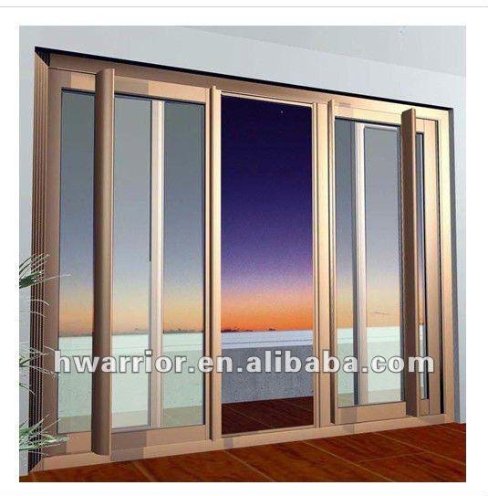 De aluminio de china cristal de la ventana deslizante de - Cerramientos de aluminio precio por metro cuadrado ...