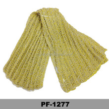Thin Yarn Blend Yellow thick Plain Warm Long knitting Winter Scarves