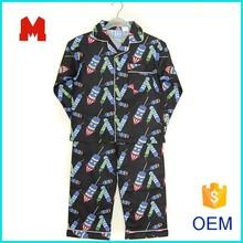 Children pajamas cotton flannel sleepwear pajama set