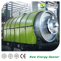 2015 Hot Waste tyre waste plastic rubber recycling Pyrolysis plant distillation plant machine
