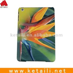 Hard Plastic case for mini ipad with water imprint &rubber oil print
