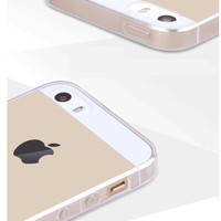 Ultra Thin Clear Rubber Silicone TPU Soft Back Cover Case For iPhone 5 5s