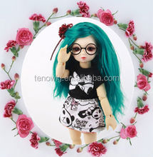 2014 new arrival long green synthetic bjd doll wig