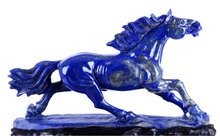 "12"" Natural Lapis Lazuli Horse Stone Sculptures/Carving Arts #W75"