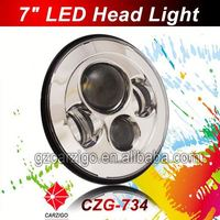 """chinese factory IP67 waterproof head light 7"""" round motorcycle for harley"""