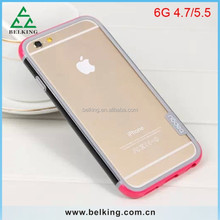 Hit Color For iPhone 6 Soft Rubber Silicon Bumper, For iPhone 6 PC Frame Bumper