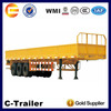 China High Quality 3 Axles 40Tons Fiberglass Cargo Trailer