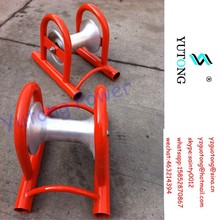 straight type cable laying roller guide