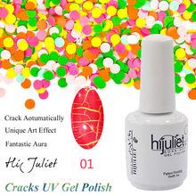 2015 estilo único UV Gel Nail Polish Art Design Tool accessory, moda grietas Nail pegamento de secado rápido y largo última colores especial Effec