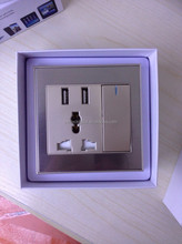 Smart home power Socket power wall switch and socket 3 Ports EU Power Supply