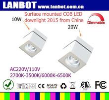 aluminium surface mounted cob led downlight 15W with 5 years guarantees