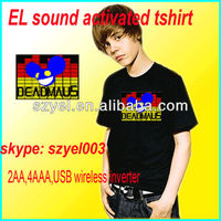 Kid's attractived LED sound activated tshirt