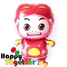 HAPPY TOGETHER Factory Wholesale New Style Chinese cartoon Pig Shape Helium Balloons