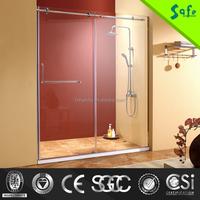 modern design frameless glass stainless steel bathroom shower enclosure