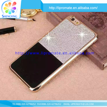 100% Brand new phone custom bling leather PC bling flip leather case cover for iphone5s