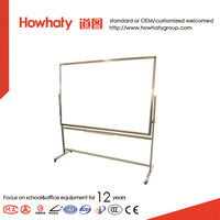 4 casters double-surface free standing magnetic whiteboard