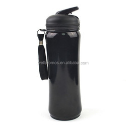 sport insulated stainless steel water bottle straw