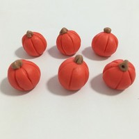 orange pumpkin ceramic models/emulation artificial models