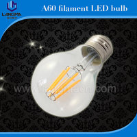 China direct manufacturer 2016 4W 6W 8W glass cover and aluminum base tungsten filament 220 volt light led bulbs with CE,ROHS