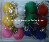 Christmas silk ornament/xmas ball
