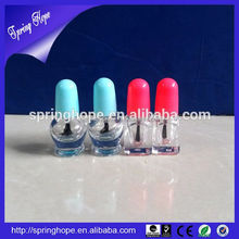 cat shape High Quality Clear Empty Nail Polish Glass Bottle With animal Lid