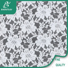 Yiwu direct factory crochet lace fabric for dress garment nigerican lace with 20 years experience chemical lace