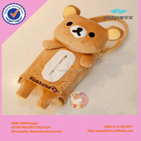 Promotion Good quality and convenient cute lovely plush Rilakkuma and rabbit car tissue box tissue case