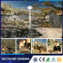 Long Perfromance Life Big Gun Shooting 5D 7D 9D Cinema
