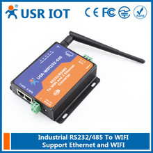 (USR-WIFI232-630) RS232 RS485 to Wifi/Ethernet Converter,Wifi Serial Server with 2 RJ45 Support Router/Bridge Mode Networking